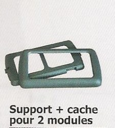 Support + cache pour 2 modules