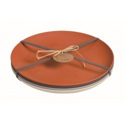 "Pack de 4 assiettes plates ""Autumn Colors"""