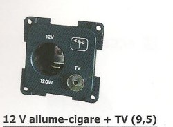 12 V allume-cigare + TV (9,5)