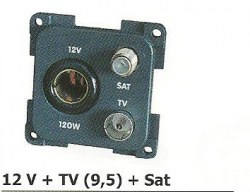12 V allume-cigare + TV (9,5) + Sat