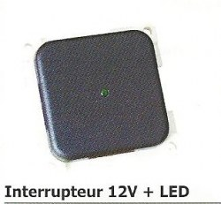 Interrupteur 12V + LED