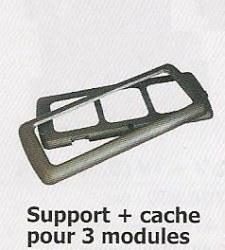 Support + cache pour 3 modules